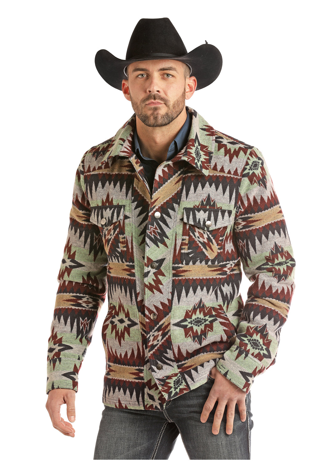 Panhandle Commander Aztec Wool Men's Coat