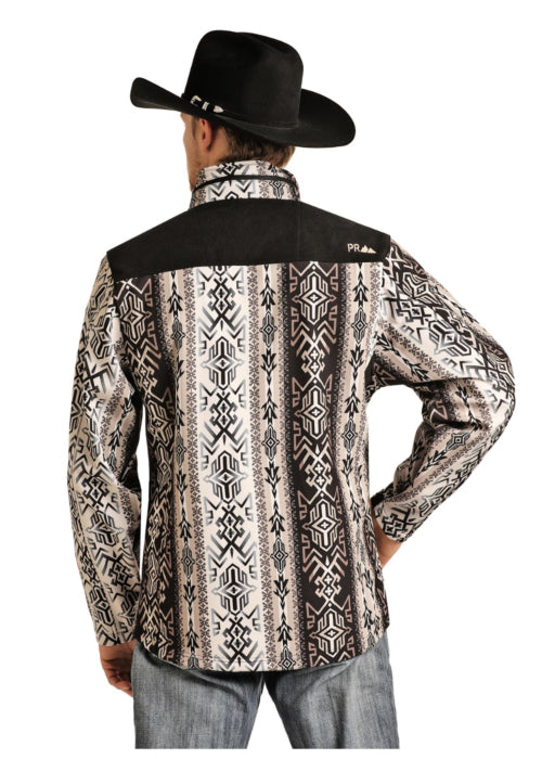 Powder River Outfitter Printed Aztec Softshell Jacket