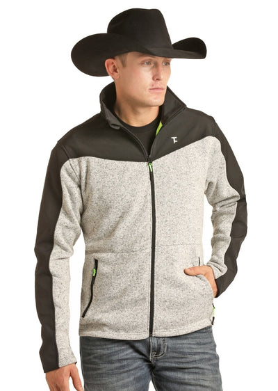 Tuff Cooper Gray and Black Fleece Men's Jacket