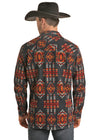 Rock & Roll Cowboy Men's Long Sleeve Aztec Shirt Jacket - Aztec
