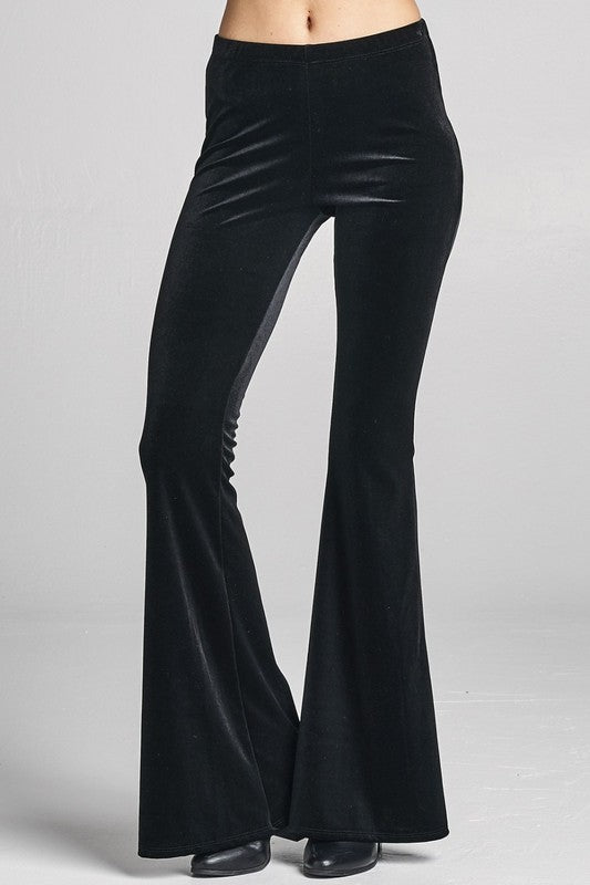 Fashion District Black High Waist Women's Bell Bottom Pant