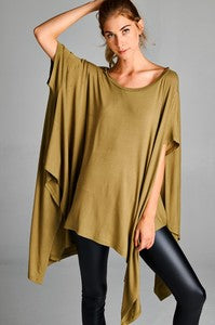 Fashion District Olive Women's Poncho