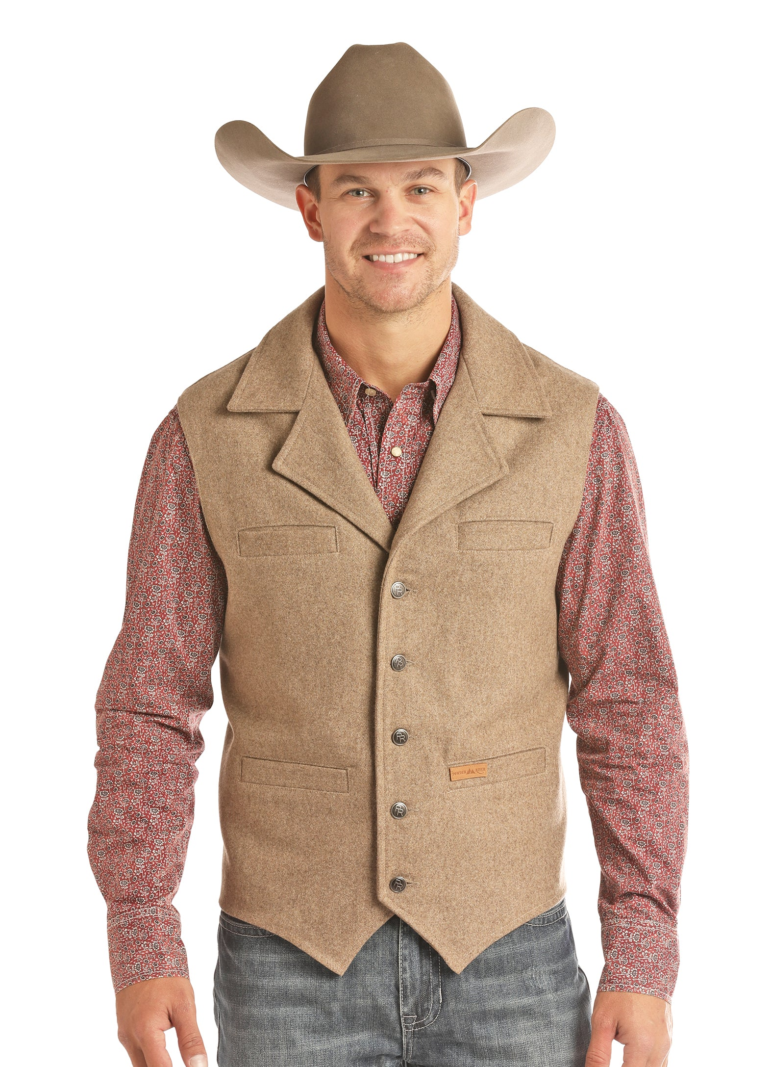 Panhandle Montana Wool Men's Vest