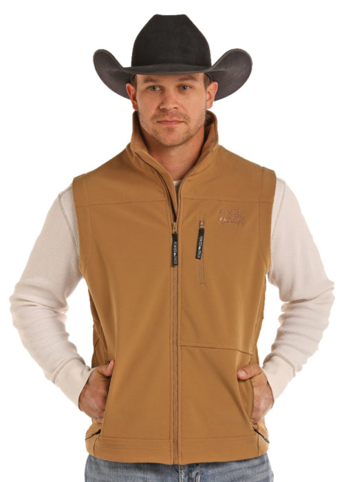 Panhandle Duck Fleece Performance Fit Men's Softshell Vest