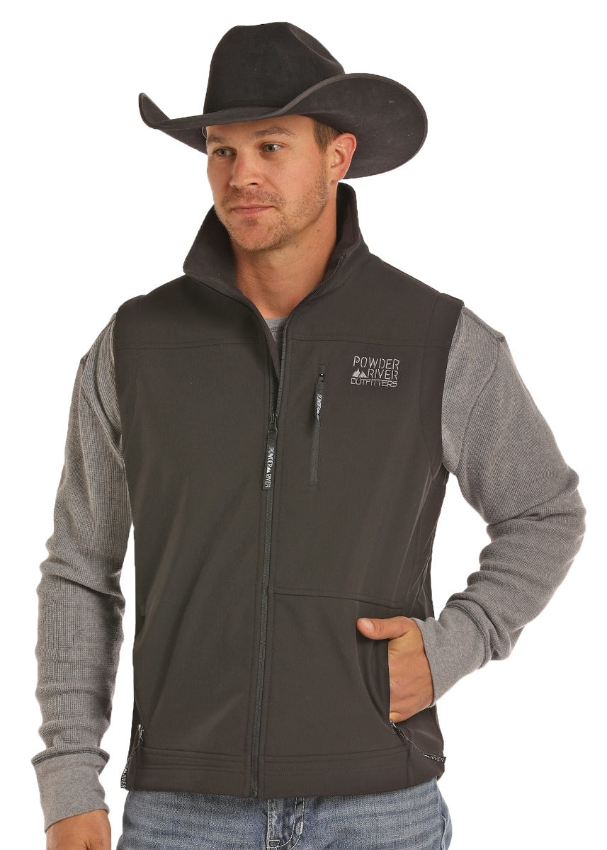 Powder River Outfitter Fleece Performance Fit Soft Shell Vest