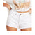 Billabong Women's How Bout That Denim Shorts - Crystal White
