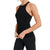 Mono B Women's Seamless Ribbed Racerback Tank Top - Black