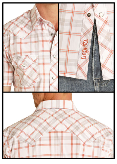 Rock & Roll Cowboy Yarndye Plaid Short Sleeve Shirt