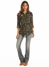 Rock N Roll Cowgirl Camo Women's Button Down