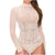 Banjul Women's Sequin Long Sleeve Bodysuit - Nude