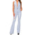 Banjul Women's Bell Bottom Denim Jumpsuit - Light Wash