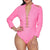 Banjul Women's Hot Pink Studded Denim Bodysuit