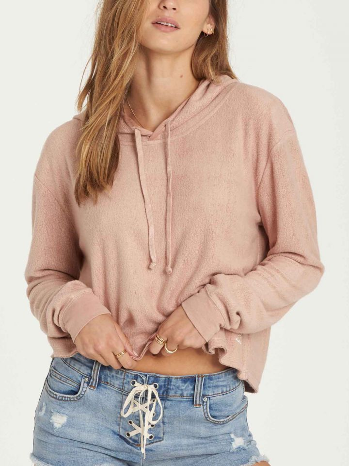 Short Story Crop Hoodie By Billabong