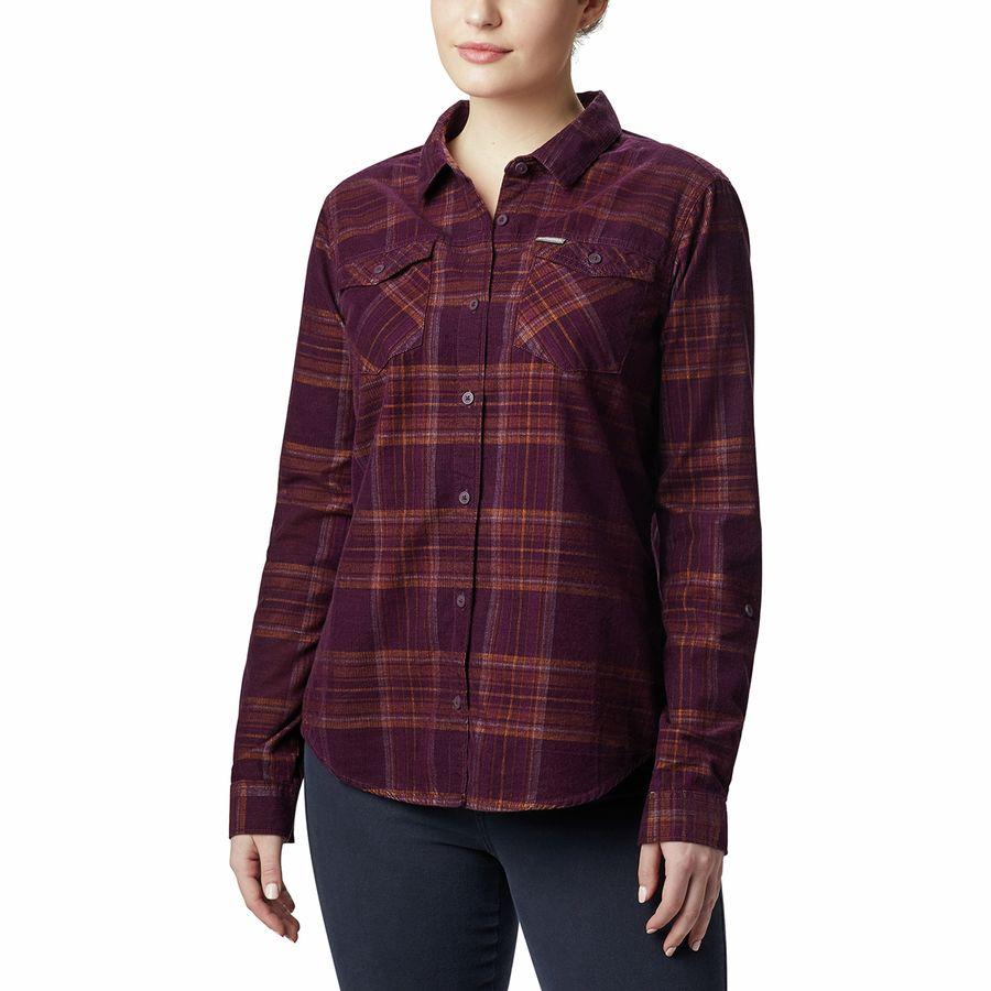 Columbia Black Cherry Times Two Corduroy Women's Flannel