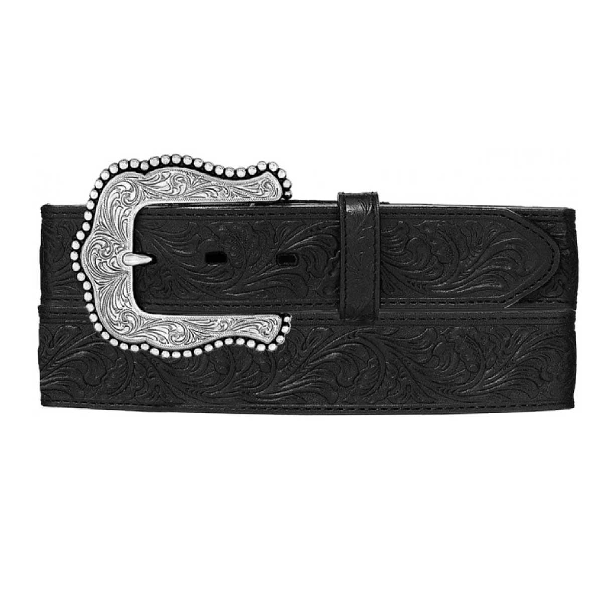 Leegin Creative Leather Tony Lama Women's Layla Floral Belt - Black
