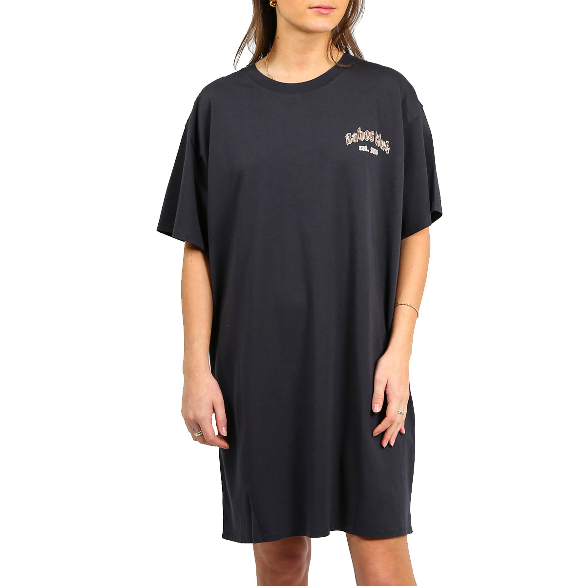 Brunette Women's The Babes Club Boxy Tee Dress - Charcoal