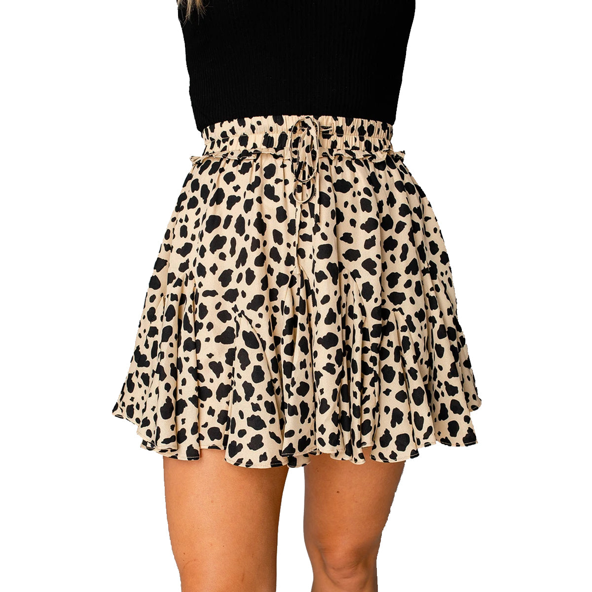 Buddy Love Women's Presley Ruffled Mini Skirt - Speckled