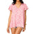 Buddy Love Women's Avril Flutter Sleeve V-Neck Top - Pink Lady
