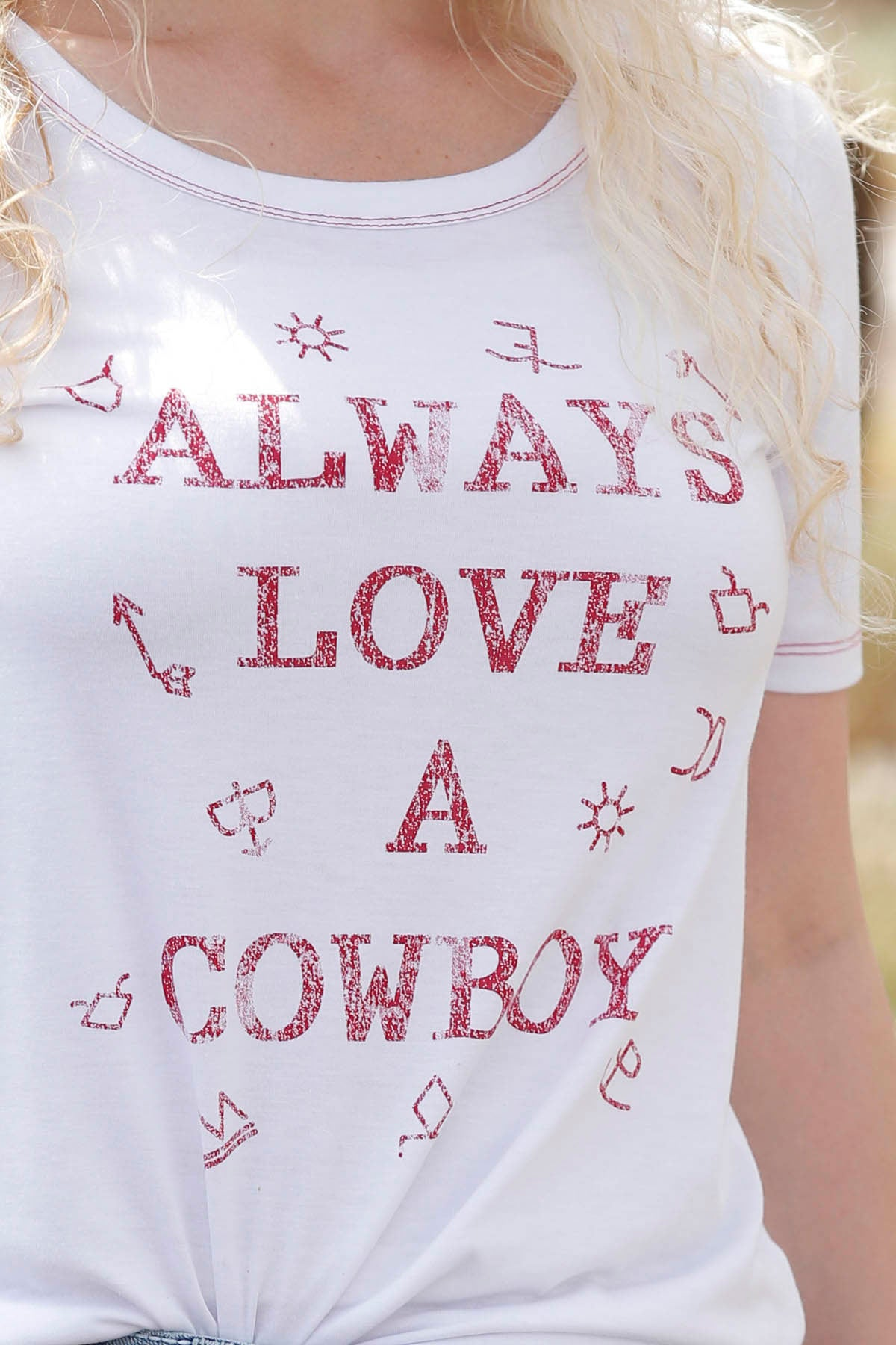 Women's Short Sleeve Cowboy Graphic Tee