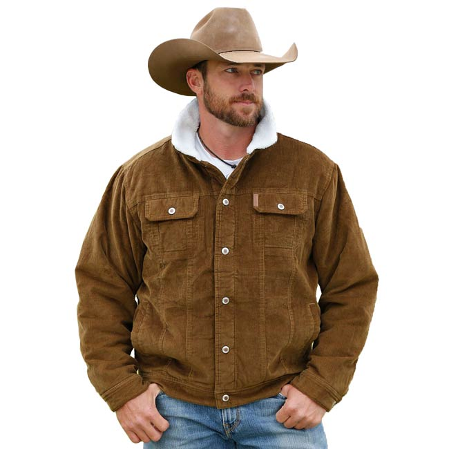 Cinch Brown Sherpa and Corduroy Men's Trucker Jacket