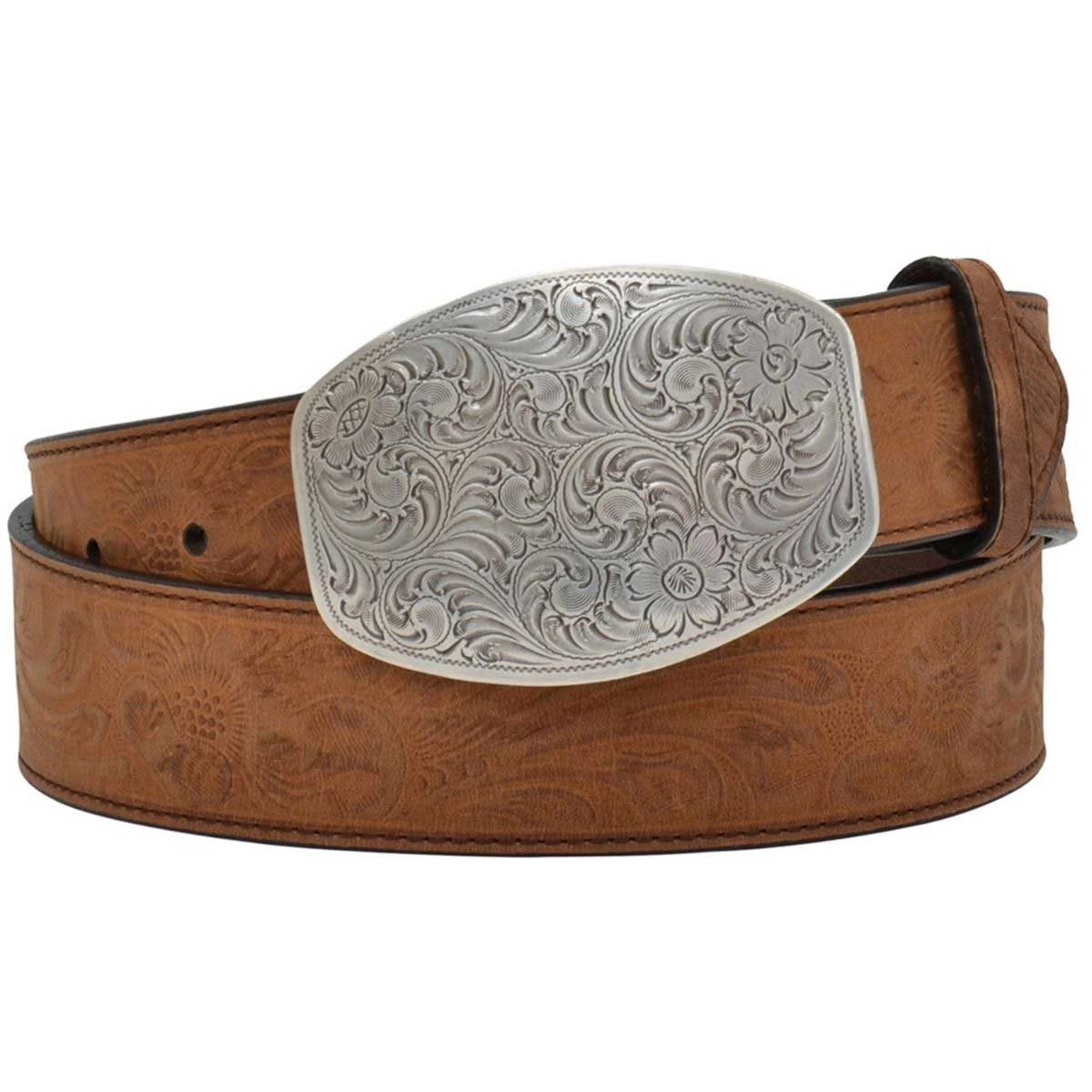 M & F Western Angel Ranch Women's Floral Tooled Belt