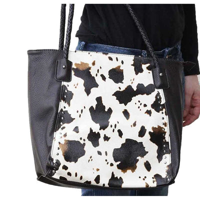 M & F Western Women's Angel Ranch Concealed Carry Handbag - Cow Print