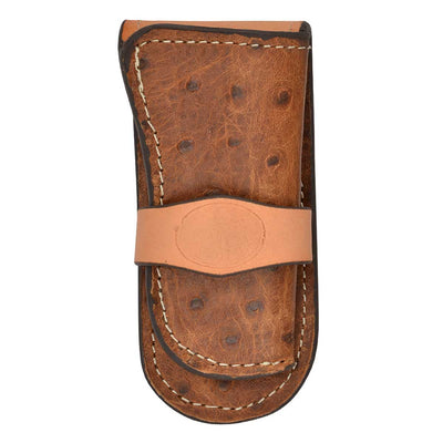 M & F Western Ostrich Print Knife Sheath
