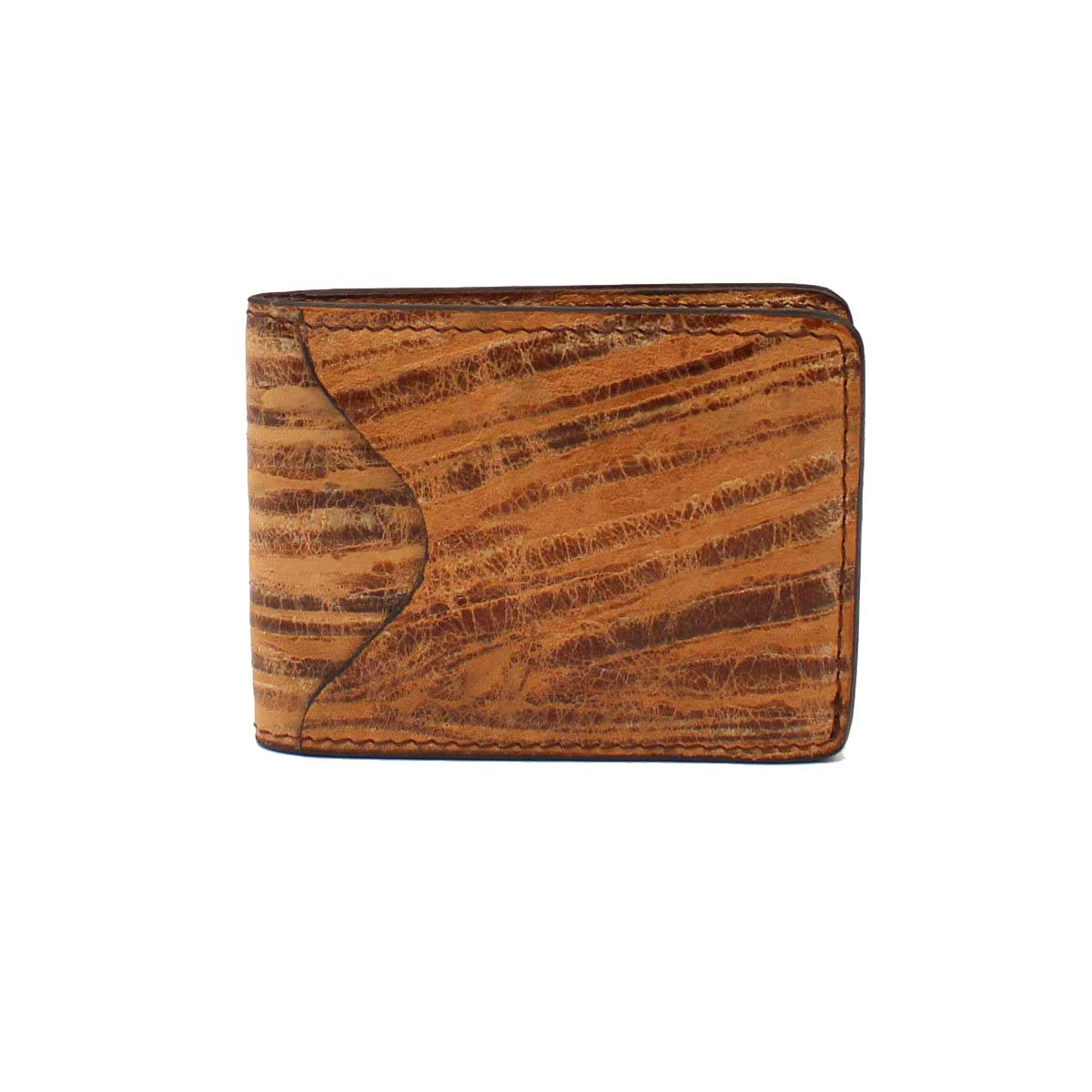 M & F Western Distressed Oak Leather ID Card and Money Holder