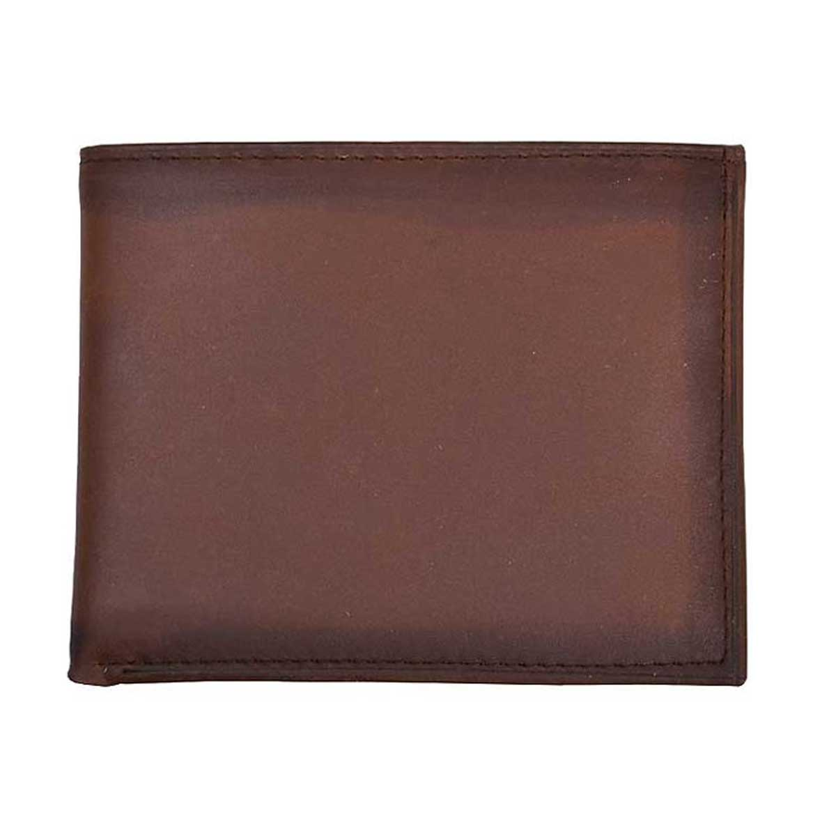 M & F Western 3D Distressed Leather Flip-fold Wallet