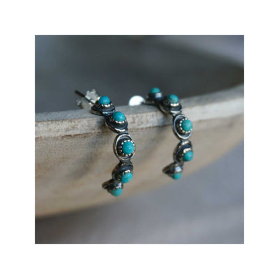 Sowell Jewelry Sam Turquoise Hoop Earrings
