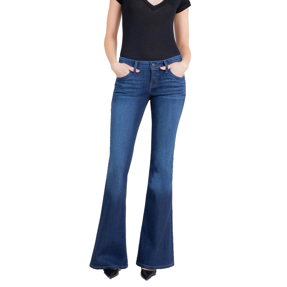 Level99 Women's Dahlia Flare Jeans - Indigo Blues
