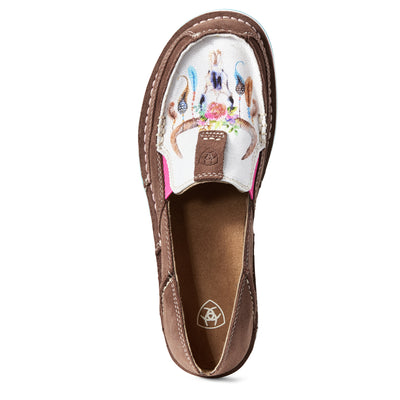 Ariat Women's Floral Steer Head Cruiser Shoes