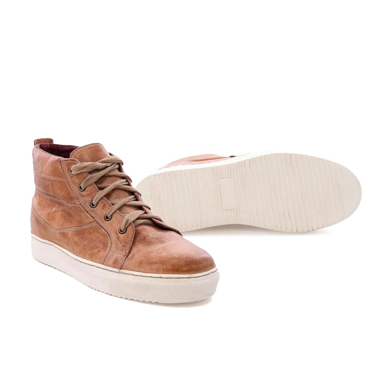 BedStu Women's Rossela High Top Sneakers - Tan Rustic Tremolo