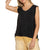 Pol Clothing Women's Relaxed Fit Ruffled Tank Top - Black