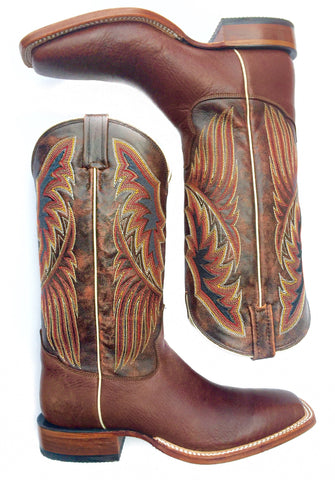 Lazy J Exclusive Buffalo Cutter Toe Boot by Tony Lama