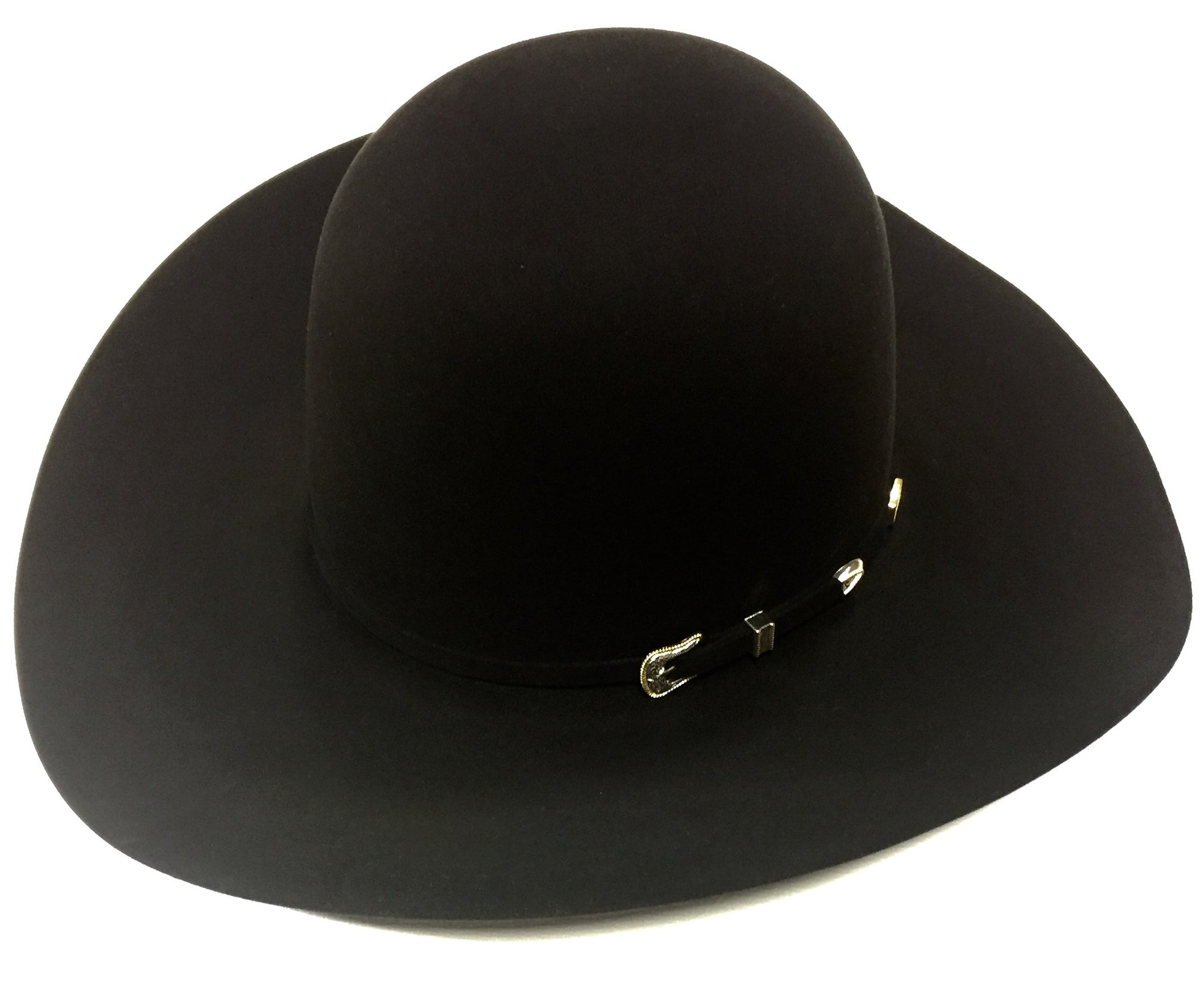 Black 10X 4 1/2 Brim Felt Hat by American Hat Co.