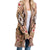 Jodifl Women's Long Sleeve Tribal Print Cardigan - Taupe