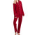 Jodifl Women's Velvet Sleepwear Set - Burgundy