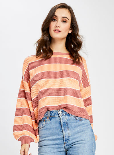Cropped Coral Alden Sweater