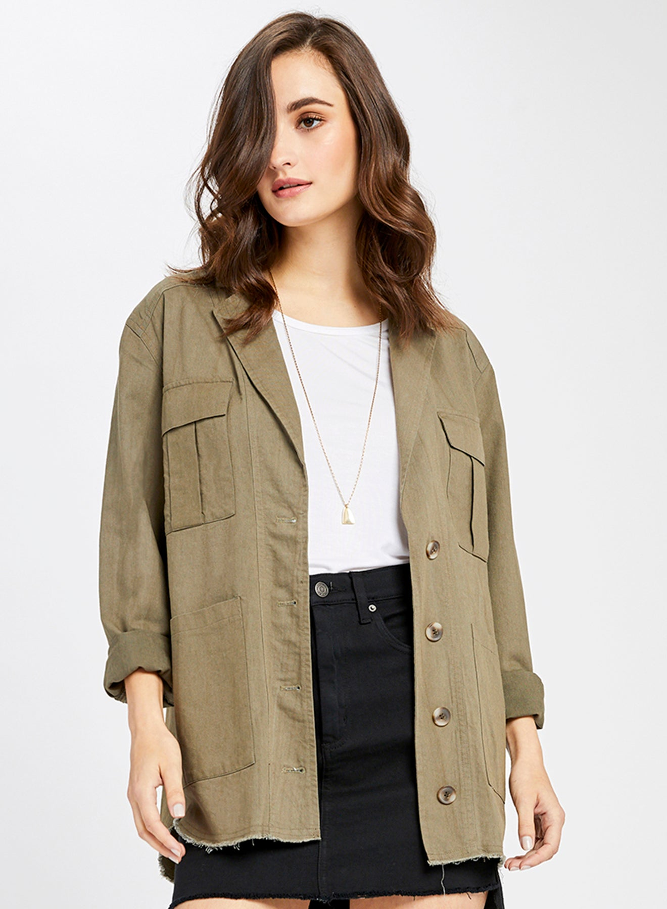 Army Green Saunders Cotton Twill Jacket
