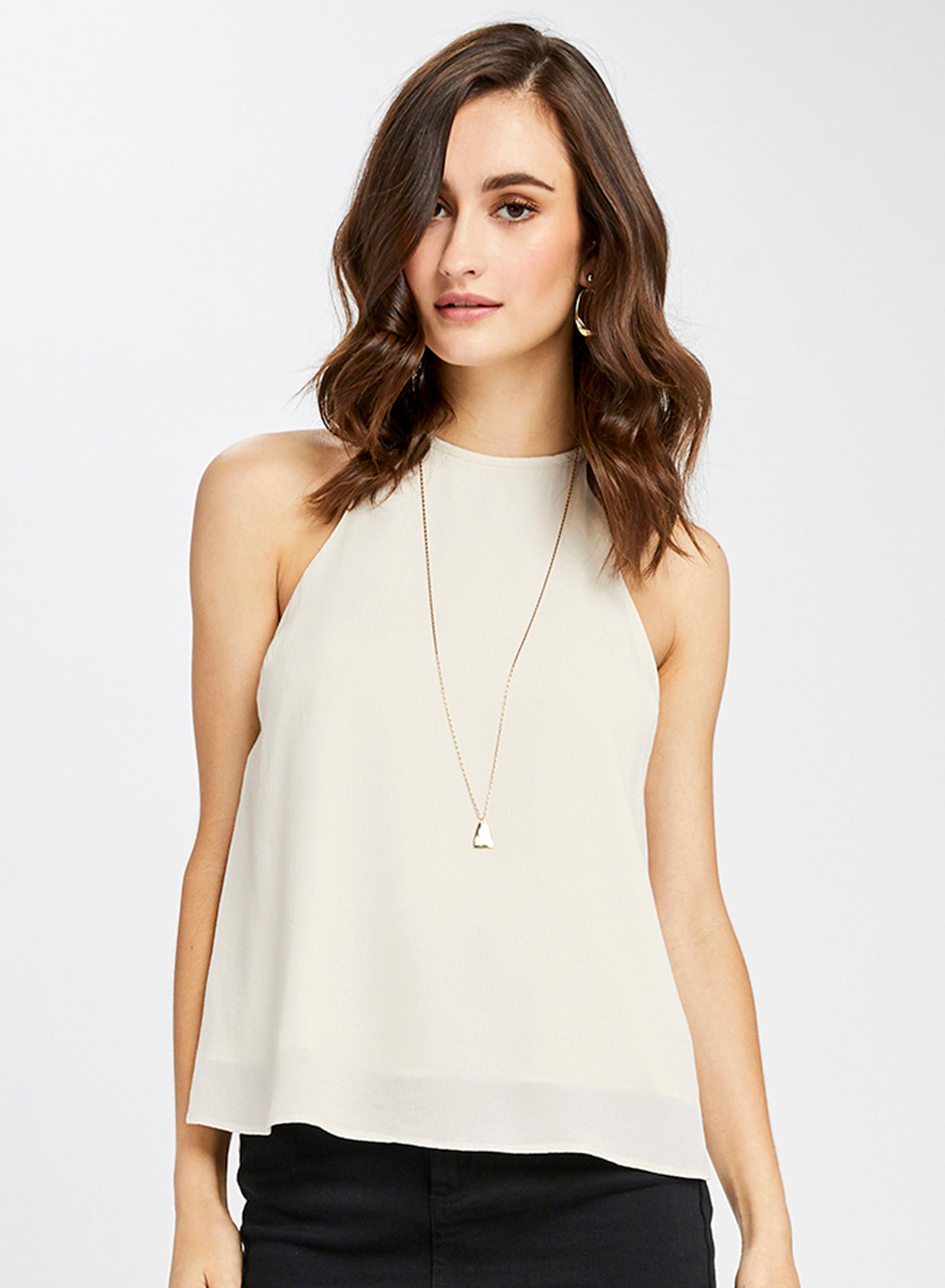 Gentle Fawn White Rani Sleeveless Top