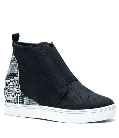 GC Shoes Black Wedge Sneaker