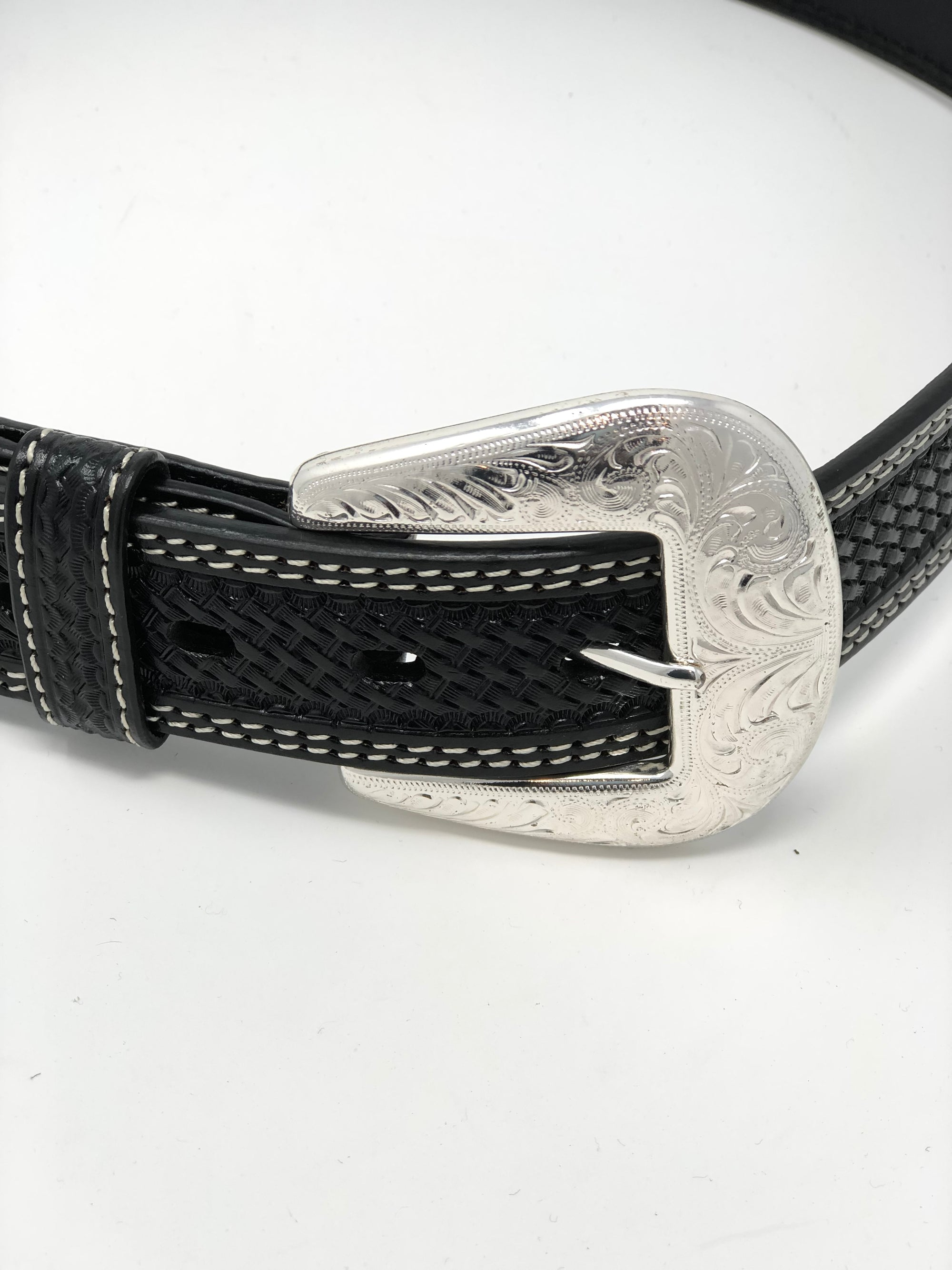 Men's Basket Weave Black Belt