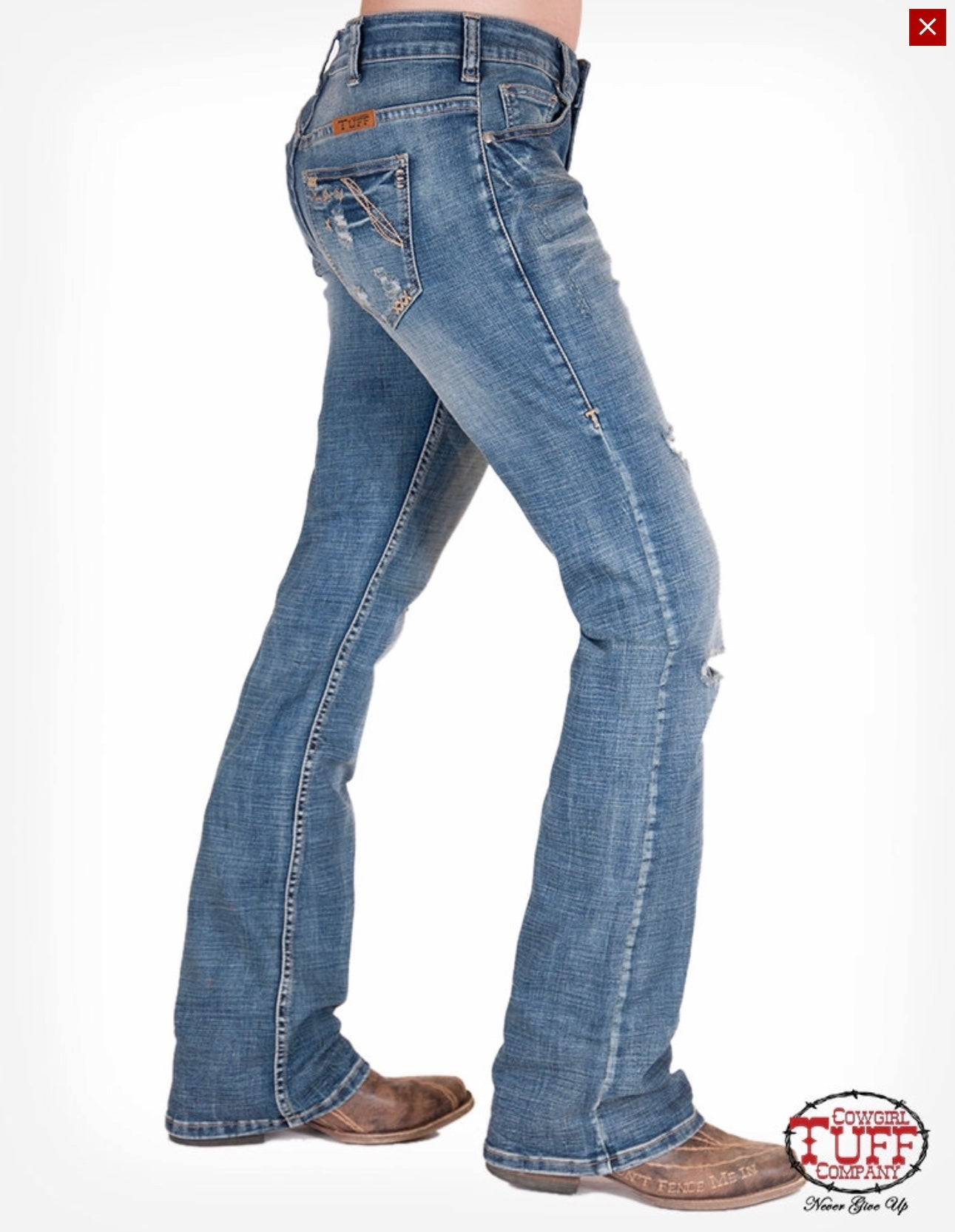 Cowgirl Tuff Bootcut Happy Jeans