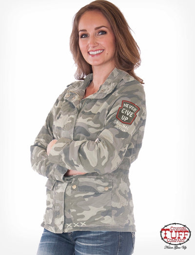 Cowgirl Tuff Camo Patch Jacket