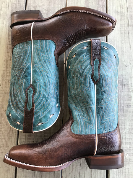 Men's Cowtown Chocolate Bullfrog Boot by Ariat