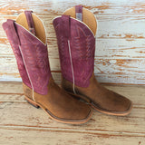 Lazy J Exclusive Sangria Boar and Kidskin Boot by Anderson Bean