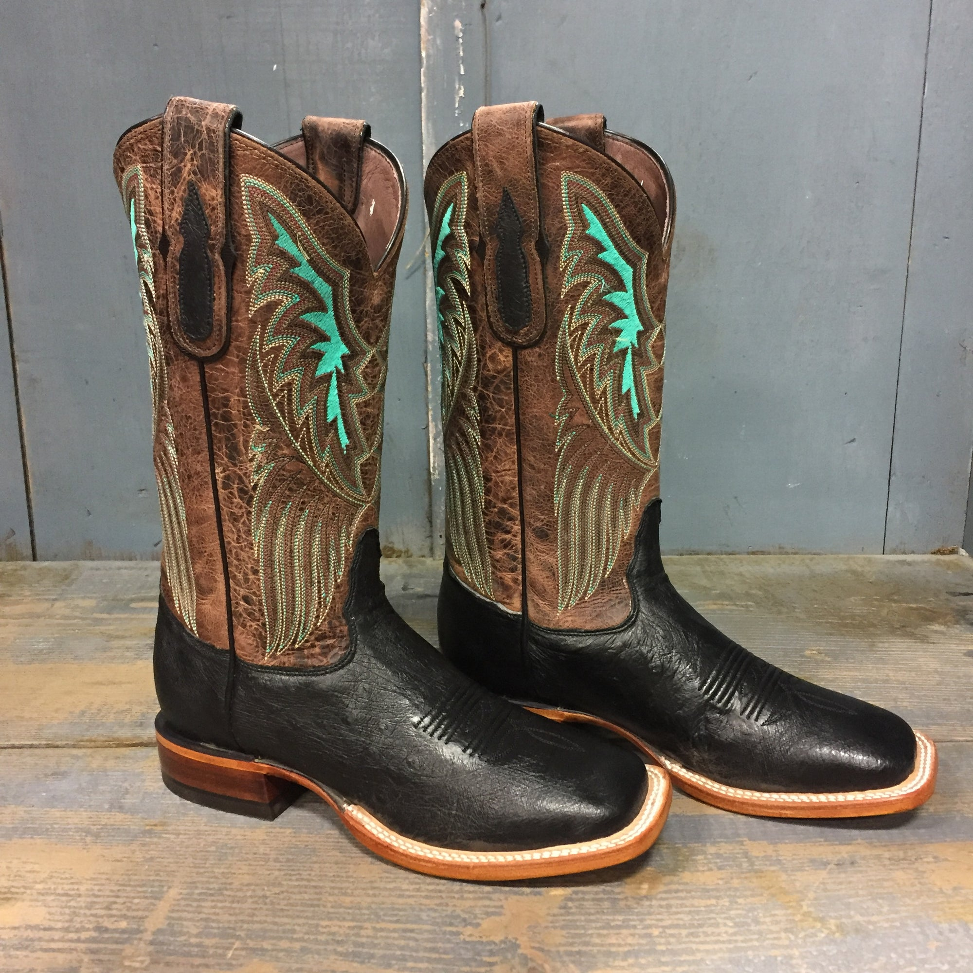 Tony Lama & Lazy J Black Smooth Ostrich Women's Boots