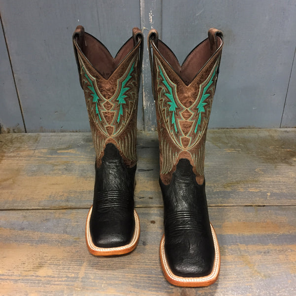 9d4bd5e4854 Tony Lama & Lazy J Black Smooth Ostrich Women's Boots