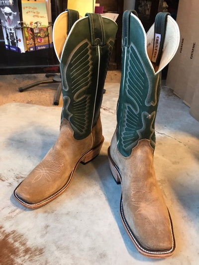 Lazy J Olathe Boot Angel Wing Rough Out